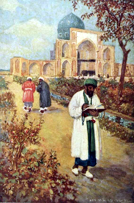 Cuadro En la tumba de Omar Jayyam (anterior a 1911), de Jay Hambidge.