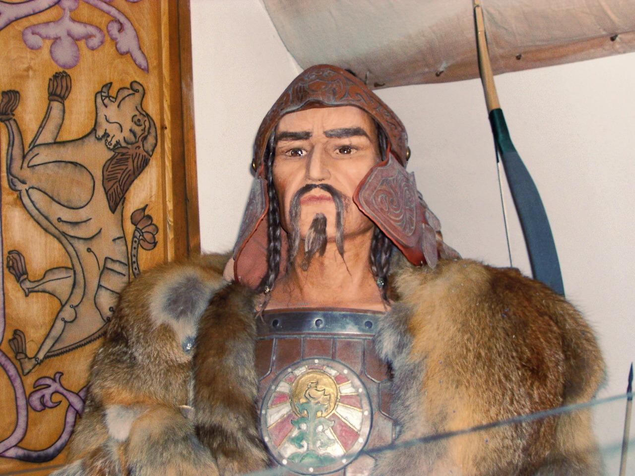 Attila in a museum in Hungary.