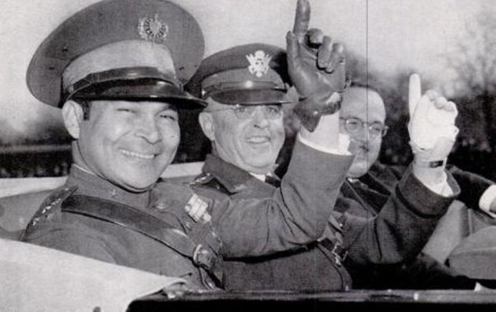 Castro intended to overthrow the presidency of General Fulgencio Batista (left, with U.S. Army Chief of staff Malin Craig, in 1938).