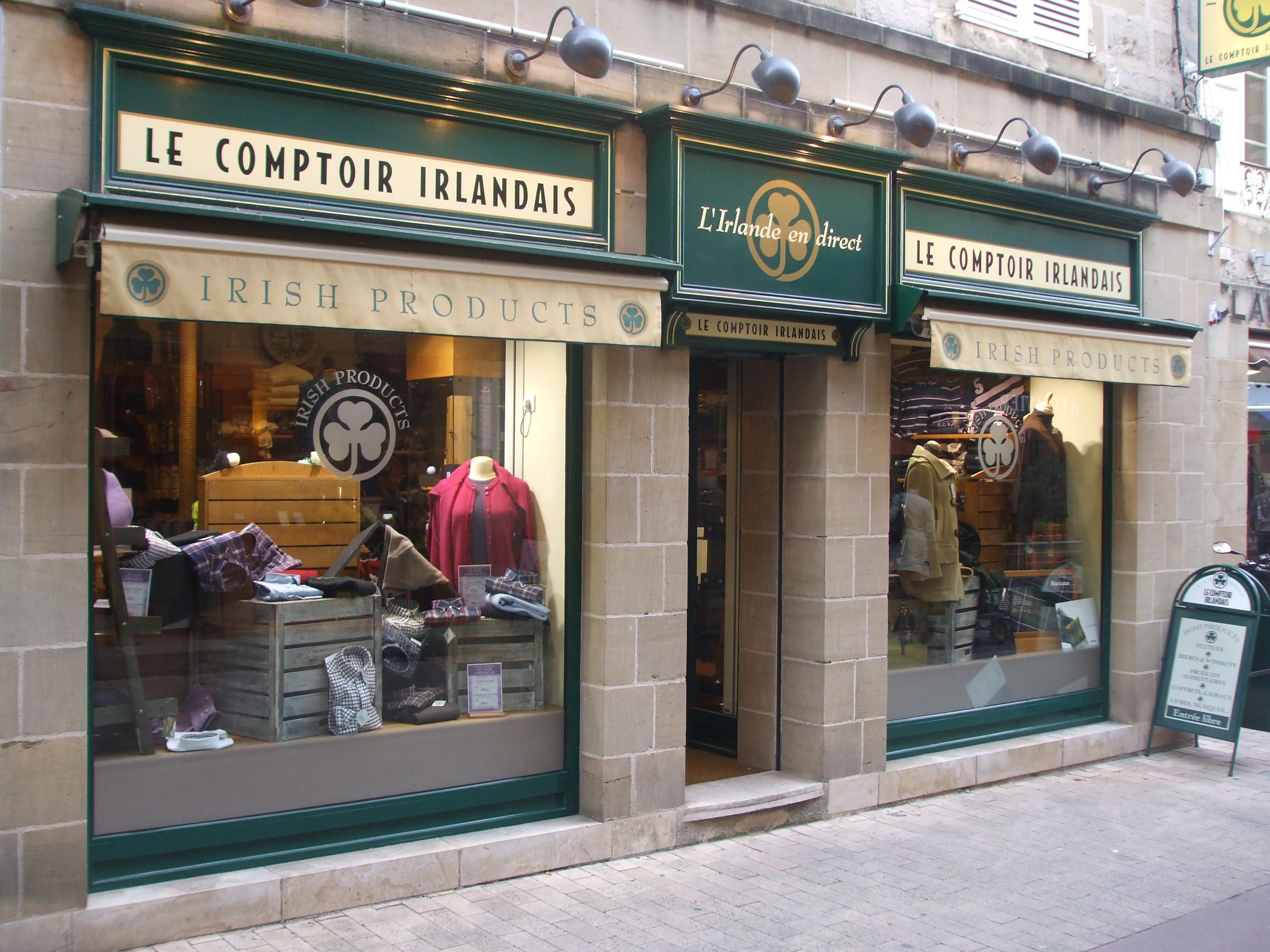 File boutique le comptoir irlandais brive la gaillarde for Le comptoir du meuble bruxelles