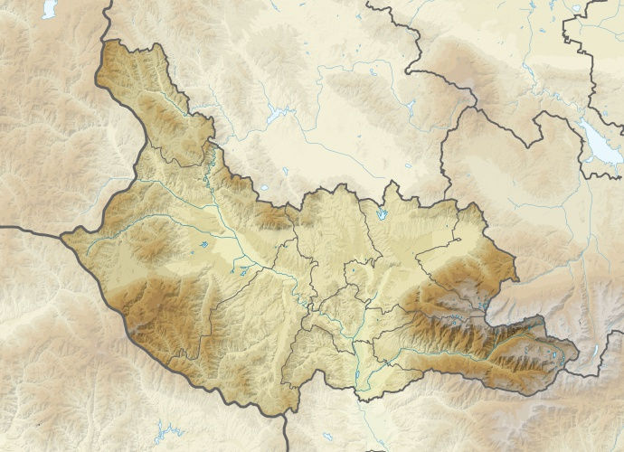 Файл:Bulgaria Kyustendil Province relief location map.jpg