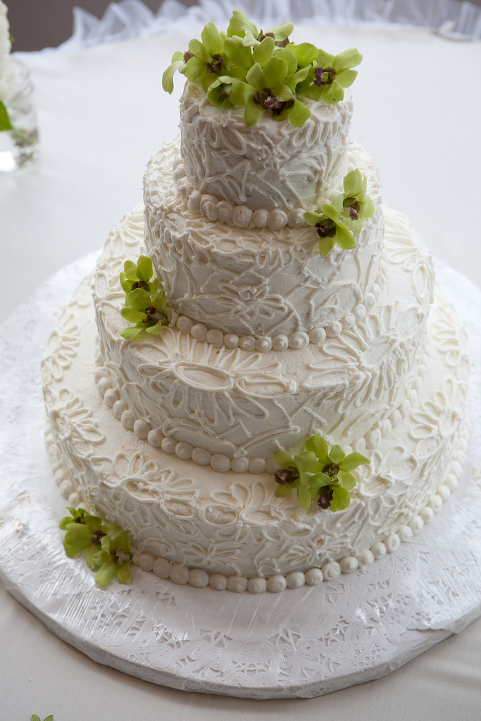 Gateau Wedding Cake Orchidee Bleu