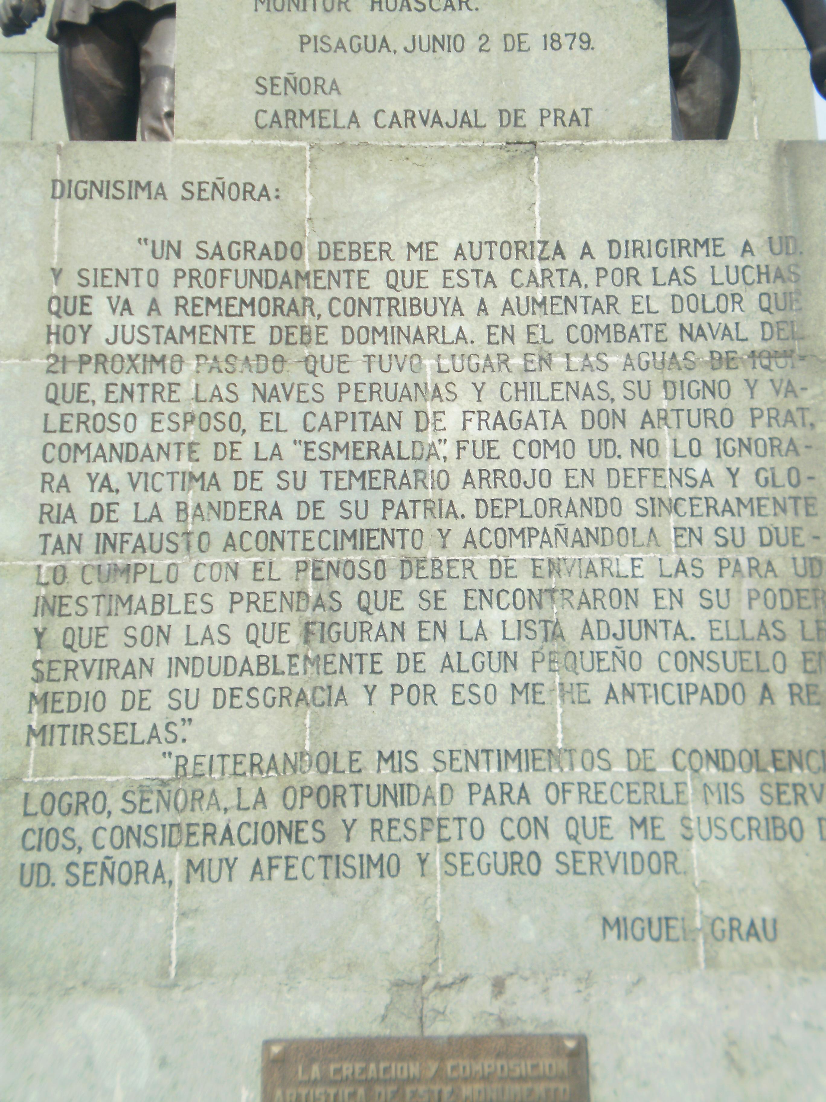 Carta_de_Grau_a_viuda_de_Prat_en_monumento_chileno.JPG