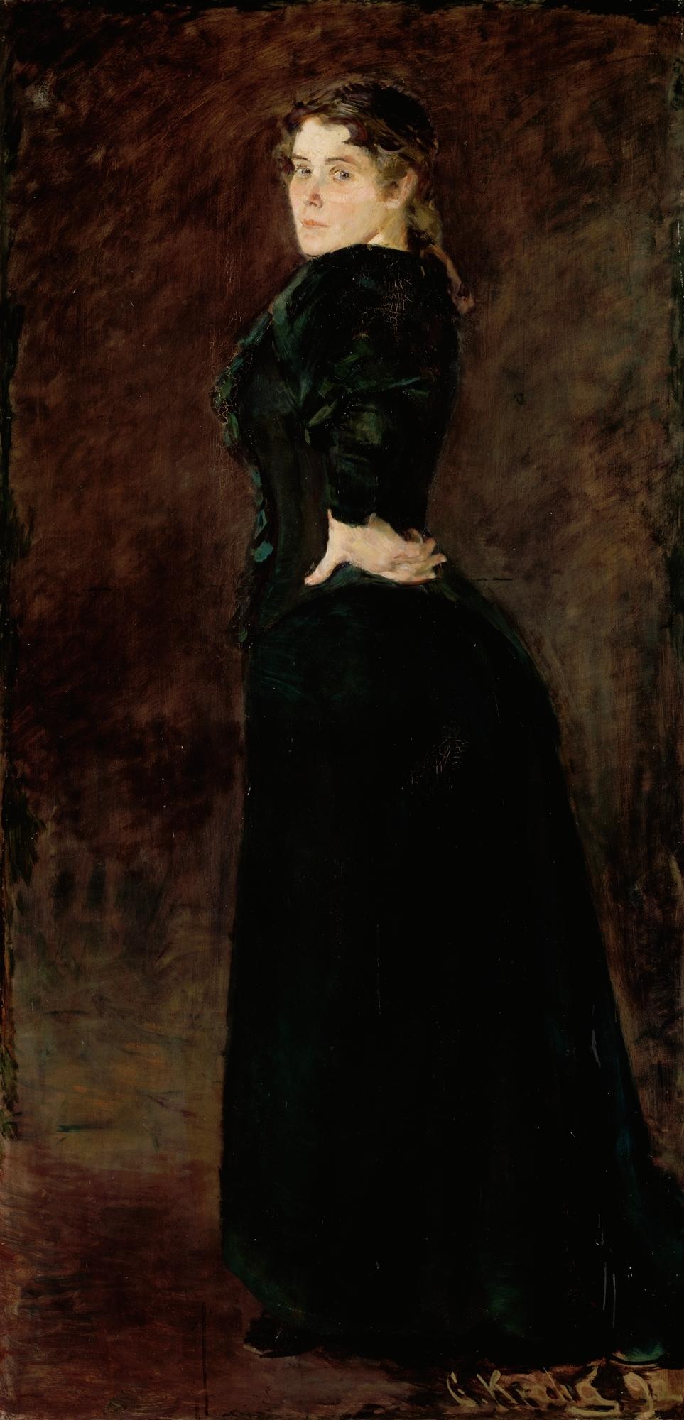 Christian Krohg - Fru Alexandra Thaulow,  f. Lasson. 1892