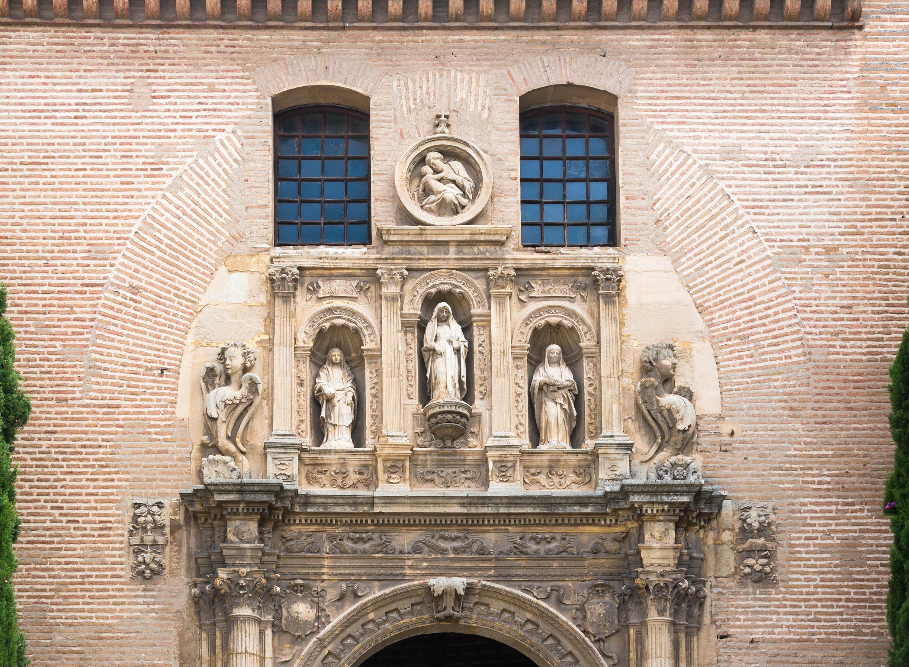 File church santa ana san gil detail facade granada spain - Santa ana granada ...