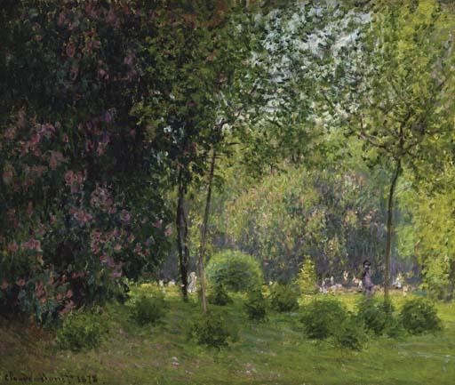 Claude Monet - Le parc Monceau