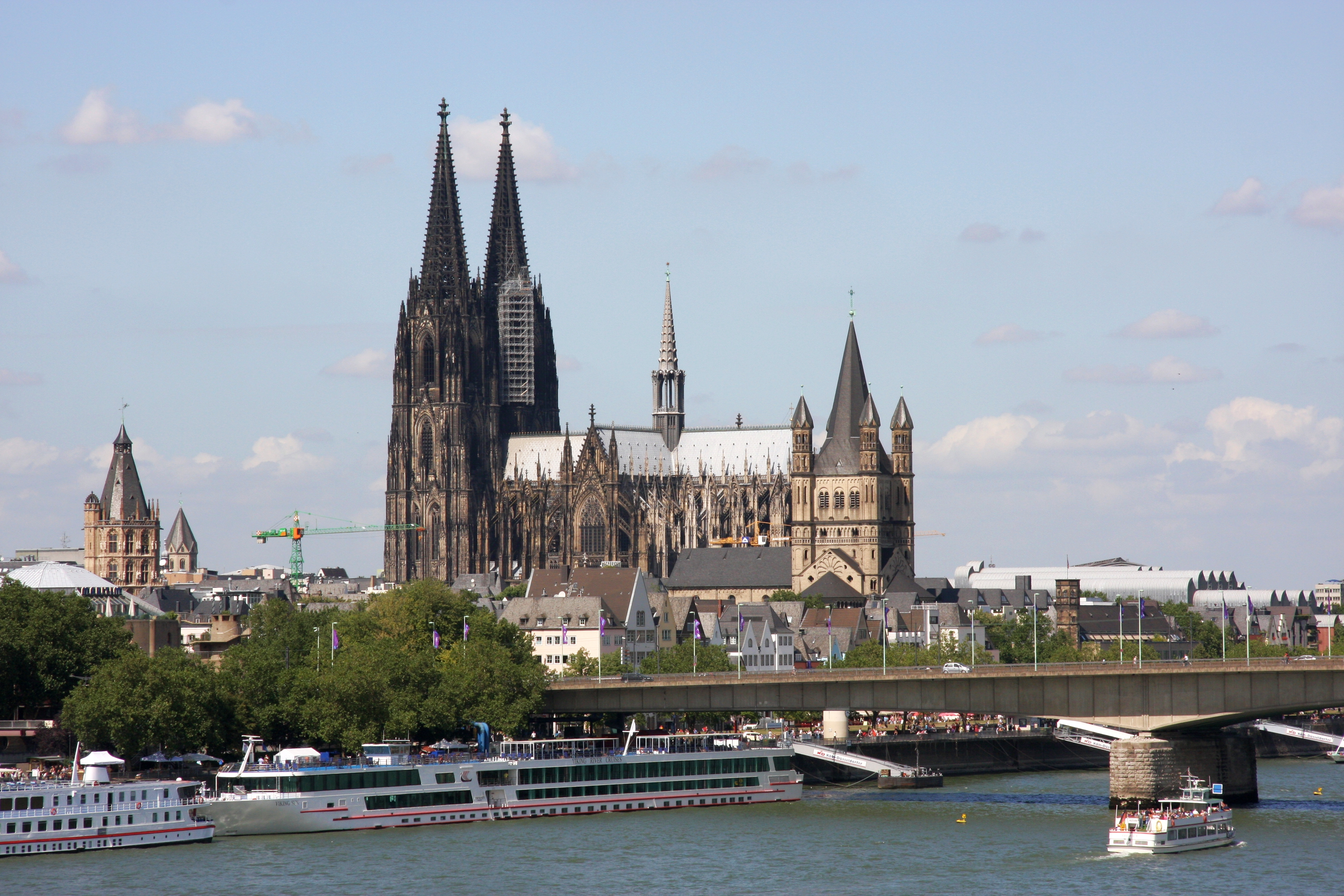 Cologne Germany  city pictures gallery : ... Great St. Martin Church right hand in Cologne, Germany PNr°0162
