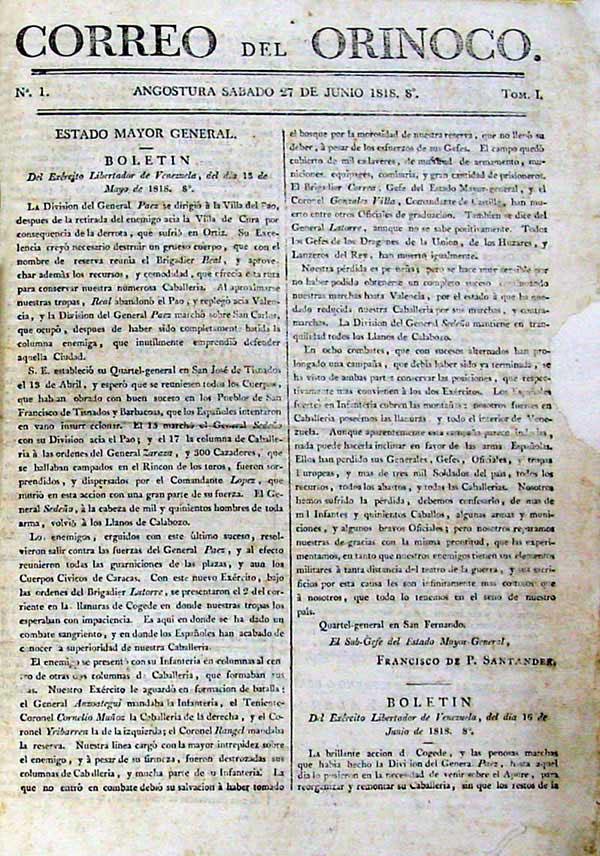 Correo del Orinoco - Wikipedia, la enciclopedia libre