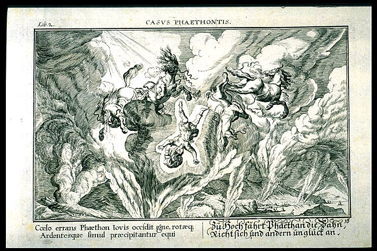 Zeus castiga a Faetón