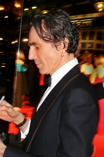 Daniel Day-Lewis no British Academy Film Awards, fevereiro de 2008.