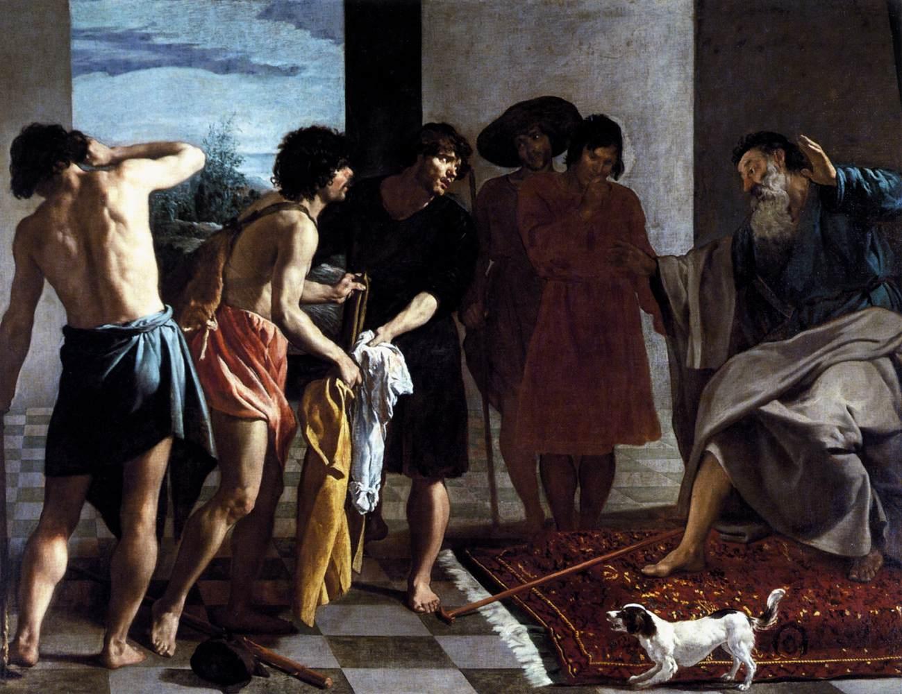 요셉의 피 묻은 겉옷을 야곱에게 가져감 (디에고 벨라스케스)