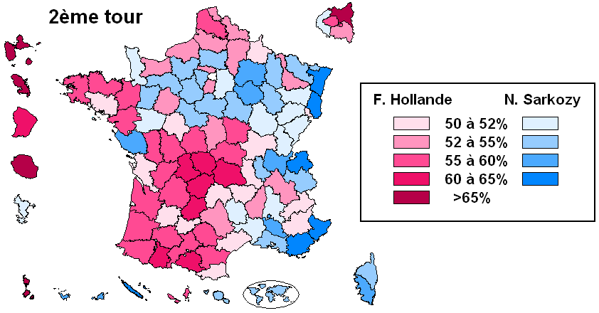 Image result for 2012 french election by department