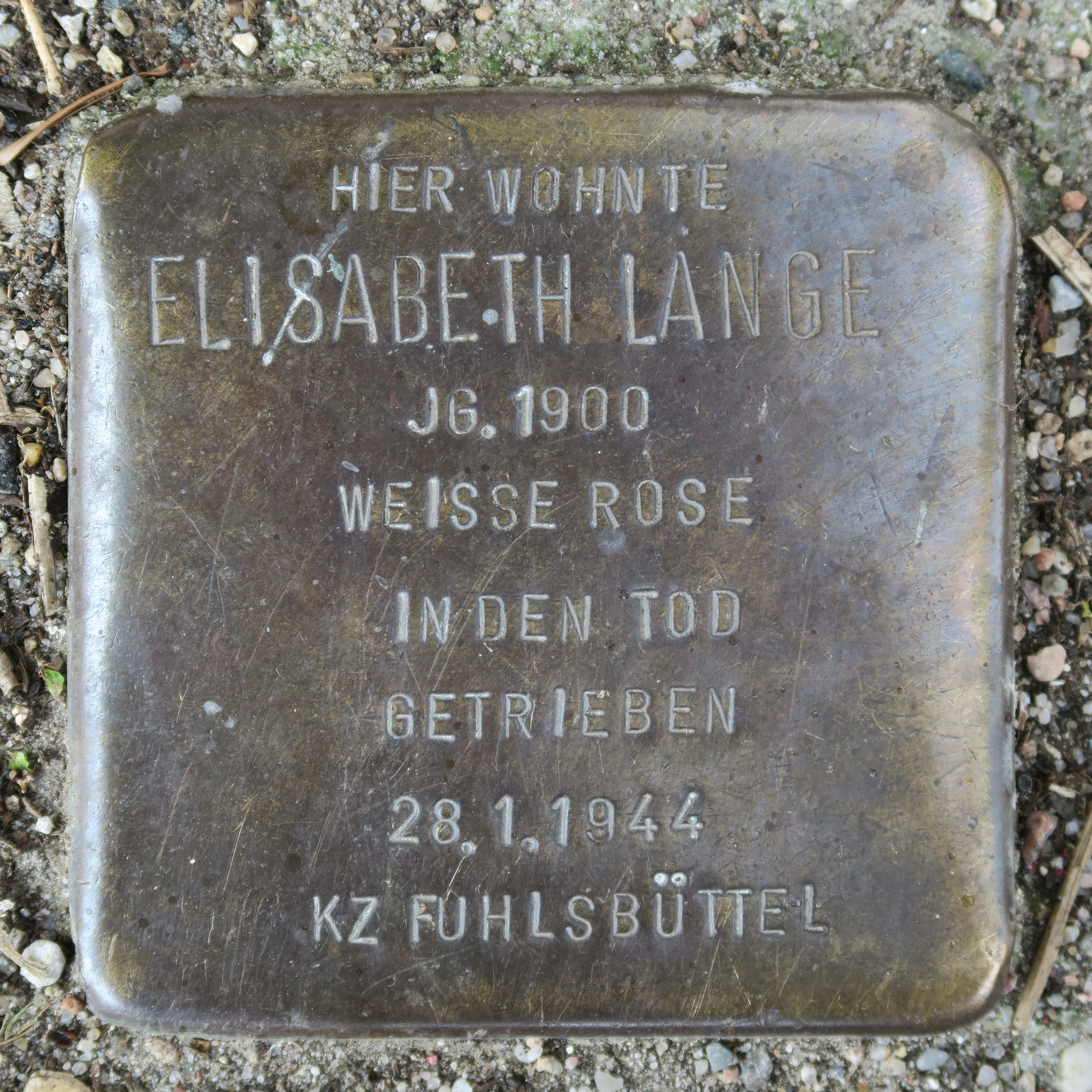 Stolperstein für Elisabeth Lange
