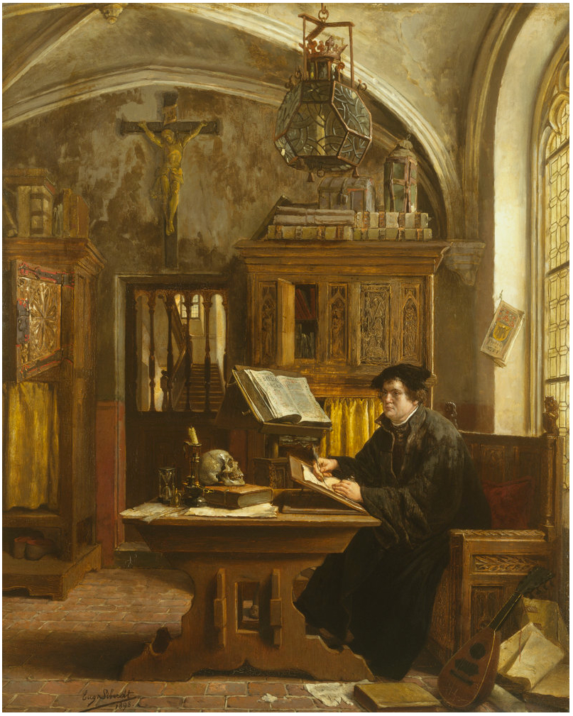 File:Eugene Siberdt - Martin Luther Translating the Bible, Wartburg Castle,  1521.