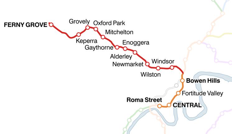 Ferny Grove railway line - Wikipedia