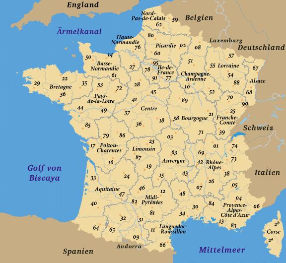 Frankreich Karte Regionen.Iso 3166 2 Fr Wikipedia