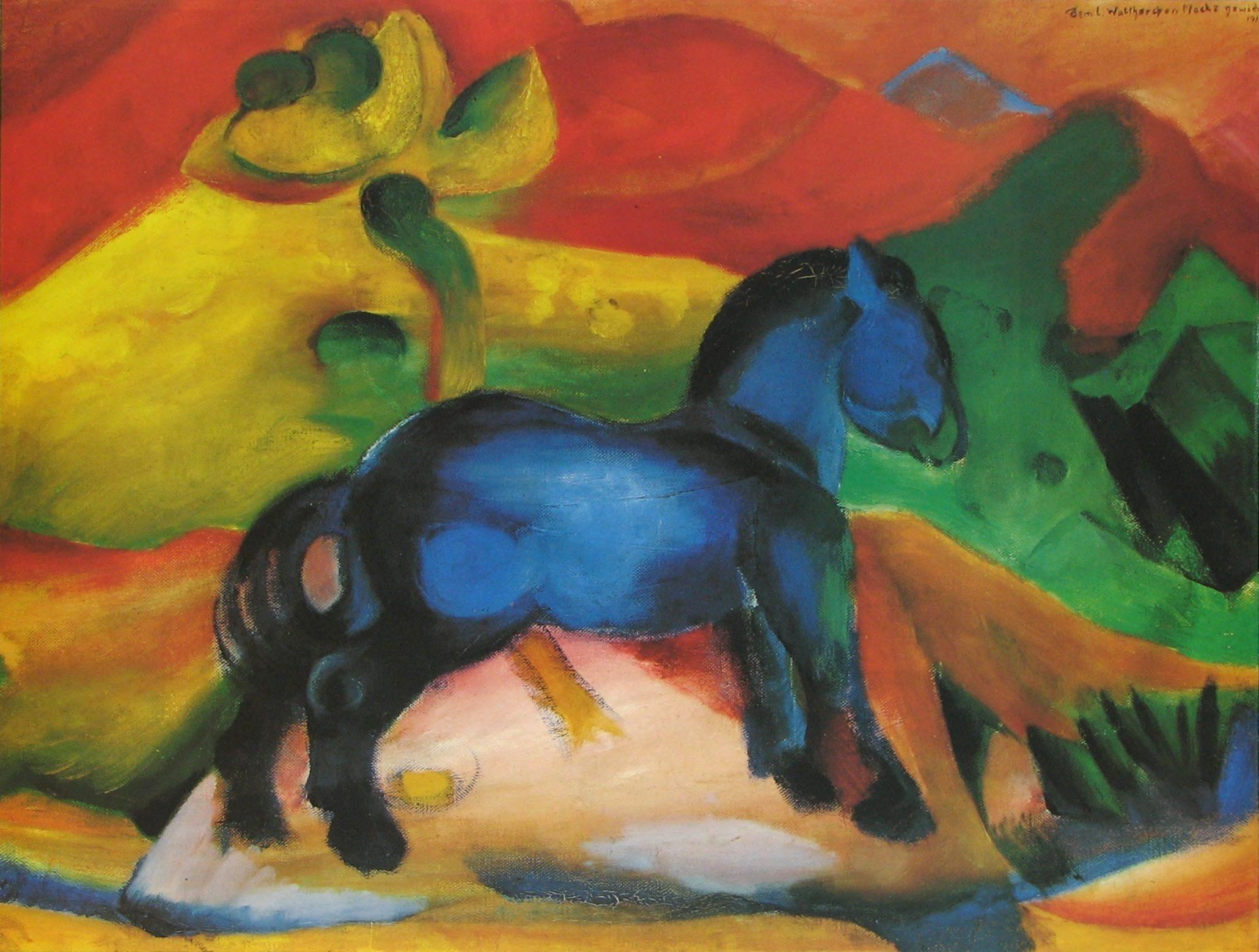 franz marc cheval bleu