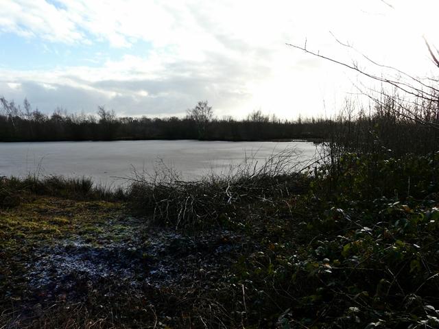 Frozen silt lagoon, Middleton Lakes RSPB Reserve - geograph.org.uk - 1112237