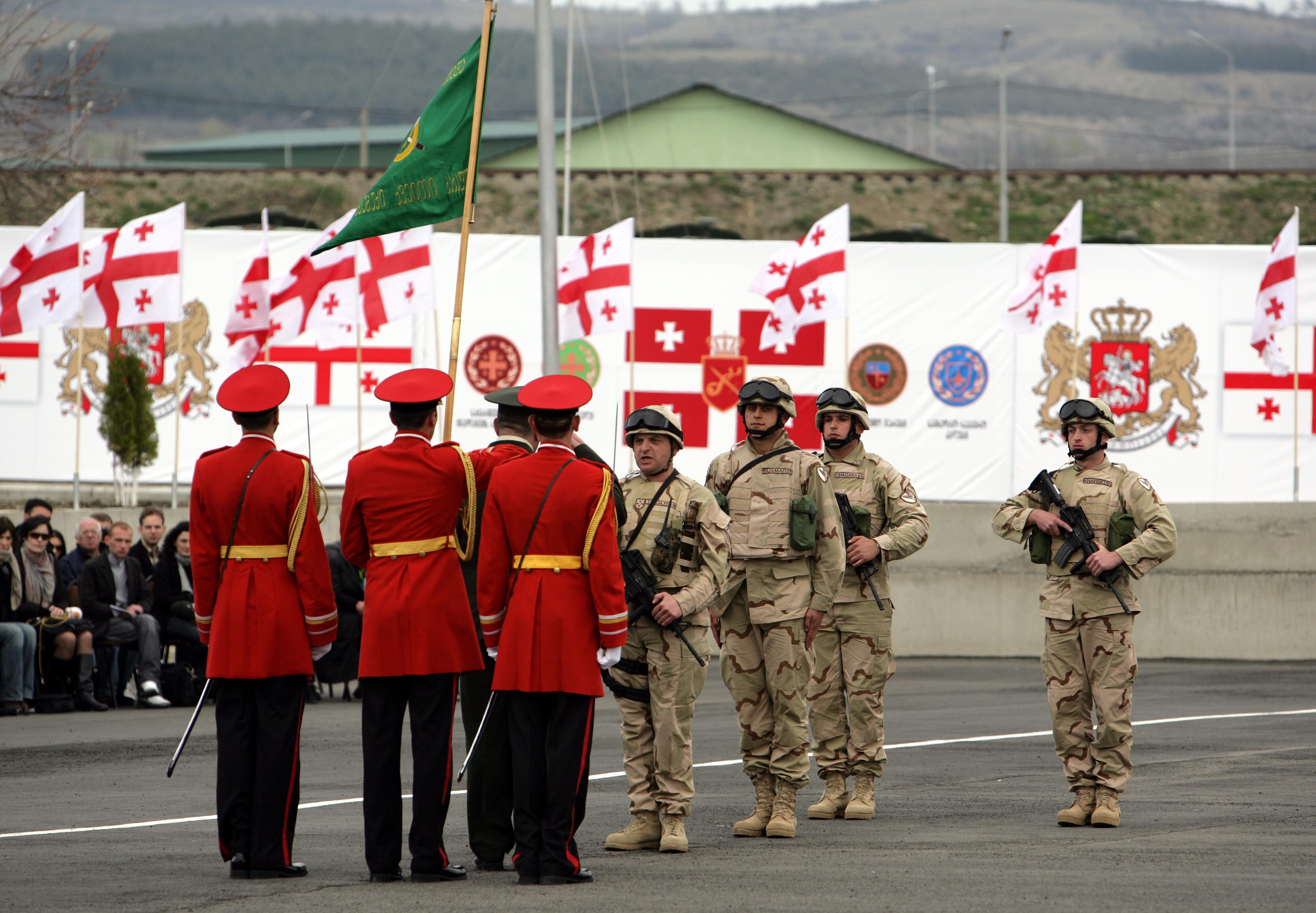 FileGeorgian 31st Light Infantry Battalion Leaves For Afghanistan 2010