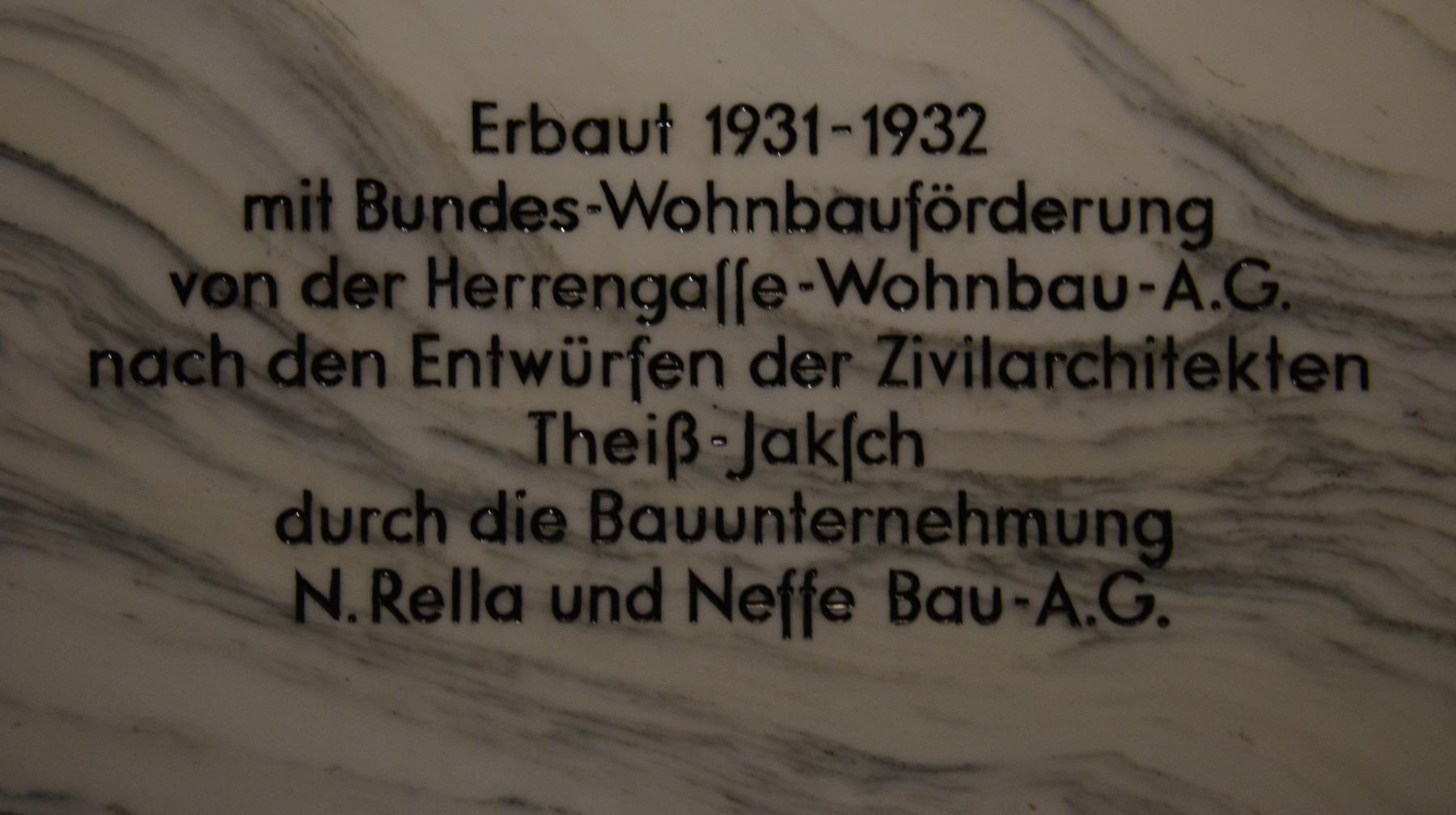 GuentherZ 2014-09-13 (2) Wien01 Herrengasse Hochhaus Herrengasse GedenktafelB.JPG
