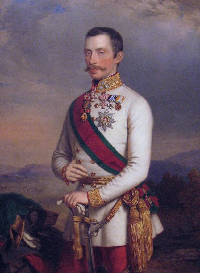 Albert főherceg, császári altábornagyBarabás Miklós festménye, 1854.