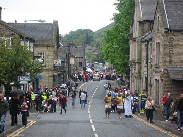 High Street Uppermill - geograph.org.uk - 811625