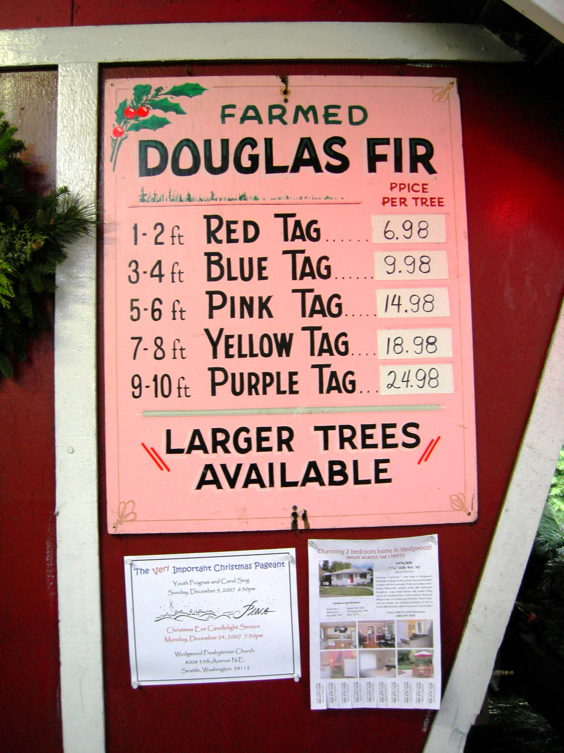 File:Hunter's Tree Farm - Doug fir prices.jpg - Wikimedia Commons