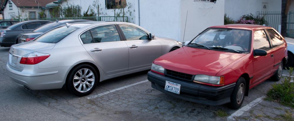 File:Hyundai Genesis 3.8 and Mitsubishi Precis (US) (5584438076).jpg