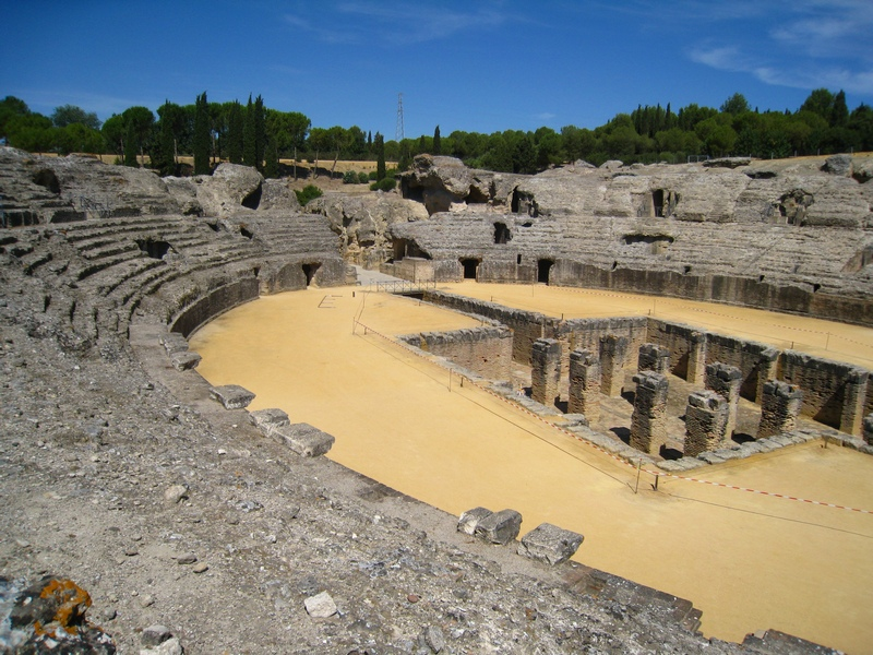 File:Italica amphitheatre Santiponce Andalucia Spain.JPG