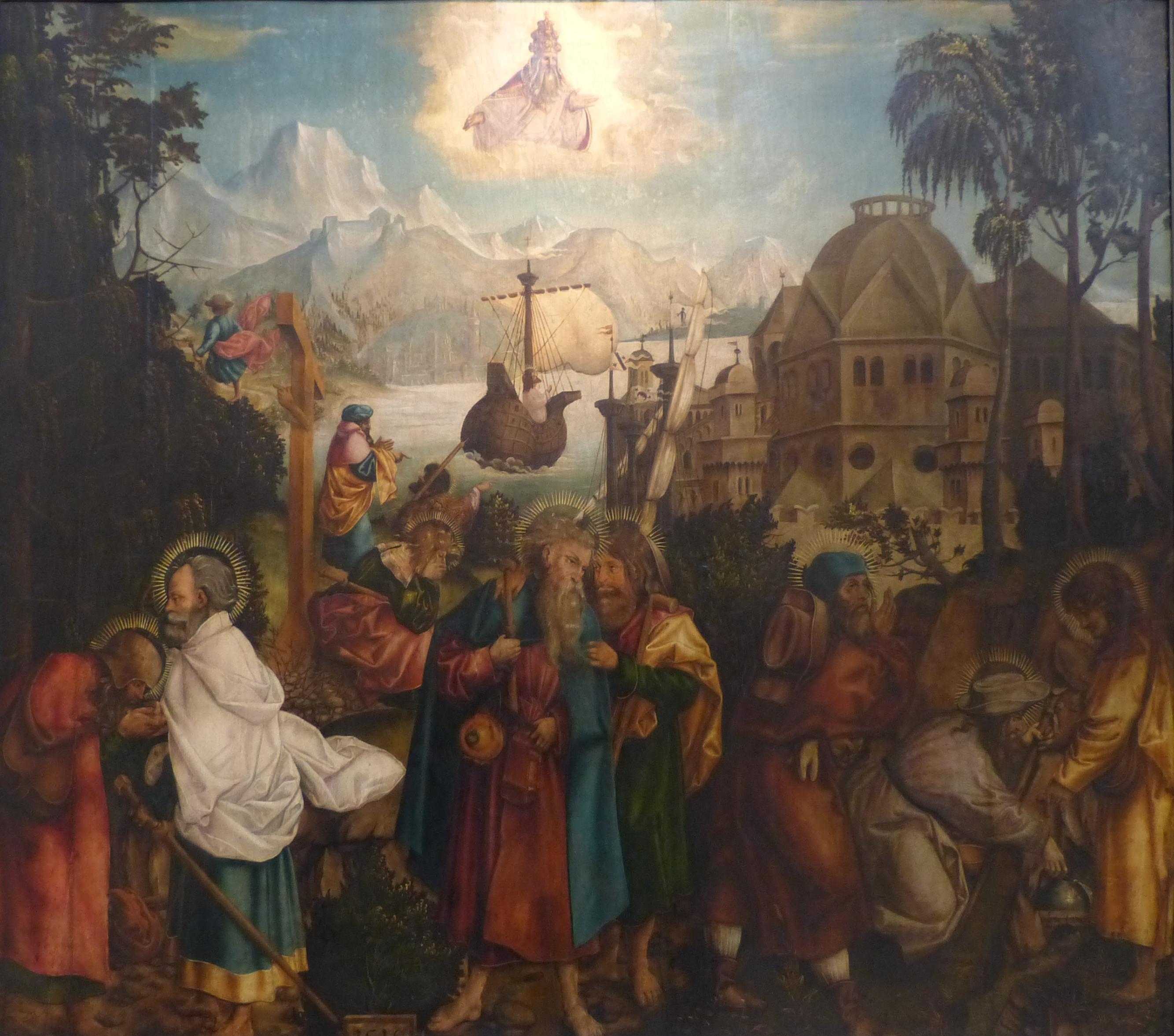 File:Jörg Breu der Ältere - Apostelabschied 1514.JPG