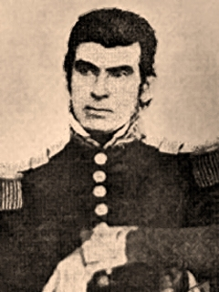 General Jose de Urrea (pictured), the commander of the victorious Mexican Army at Goliad vigorously appealed to Antonio Lopez de Santa Anna to give clemency to the Texian Army prisoners of war but was overruled and ordered to massacre the unarmed Texians JOSE COSME URREA.jpg