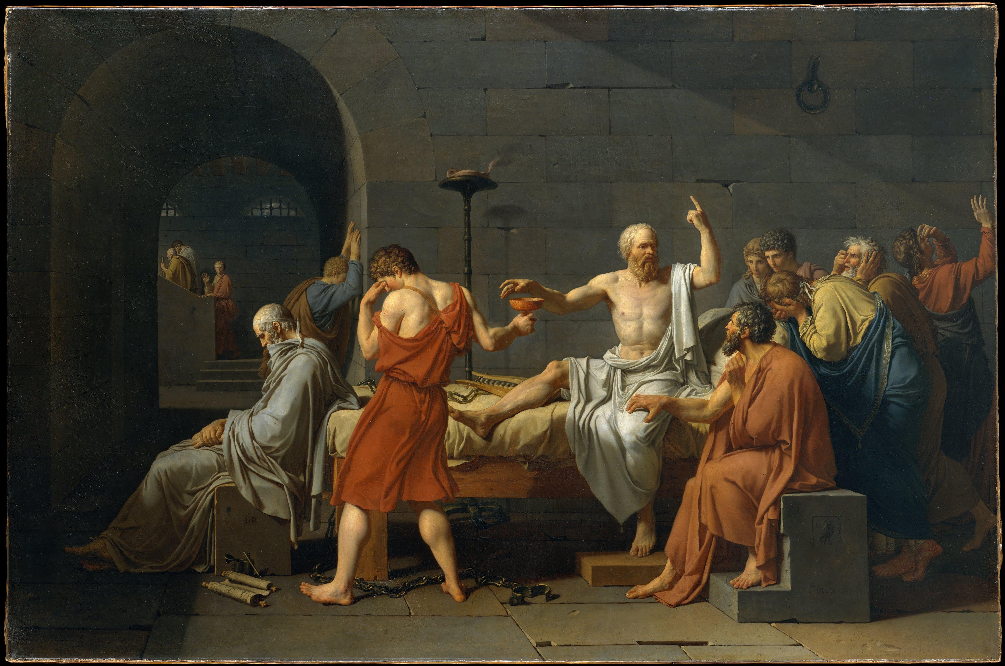 La muerte de Sócrates - Wikipedia, la enciclopedia libre