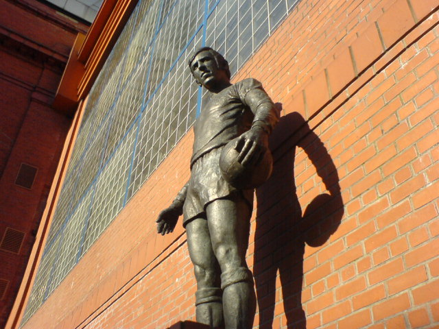 Statue of John Greig at Ibrox Stadium, memoria...