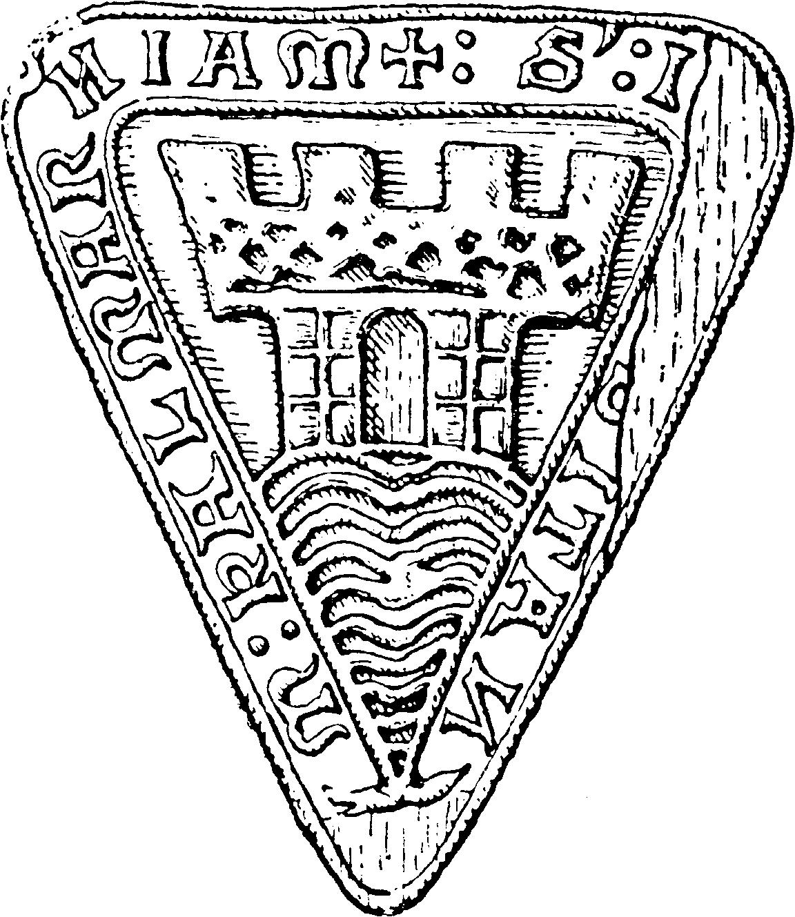 File:Kalmar stads sigill på 1200-talet (naturlig storlek, ur Nordisk familjebok).png