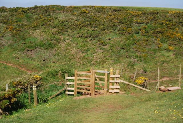 File:Kissing gate, Fleswick Bay - geograph.org.uk