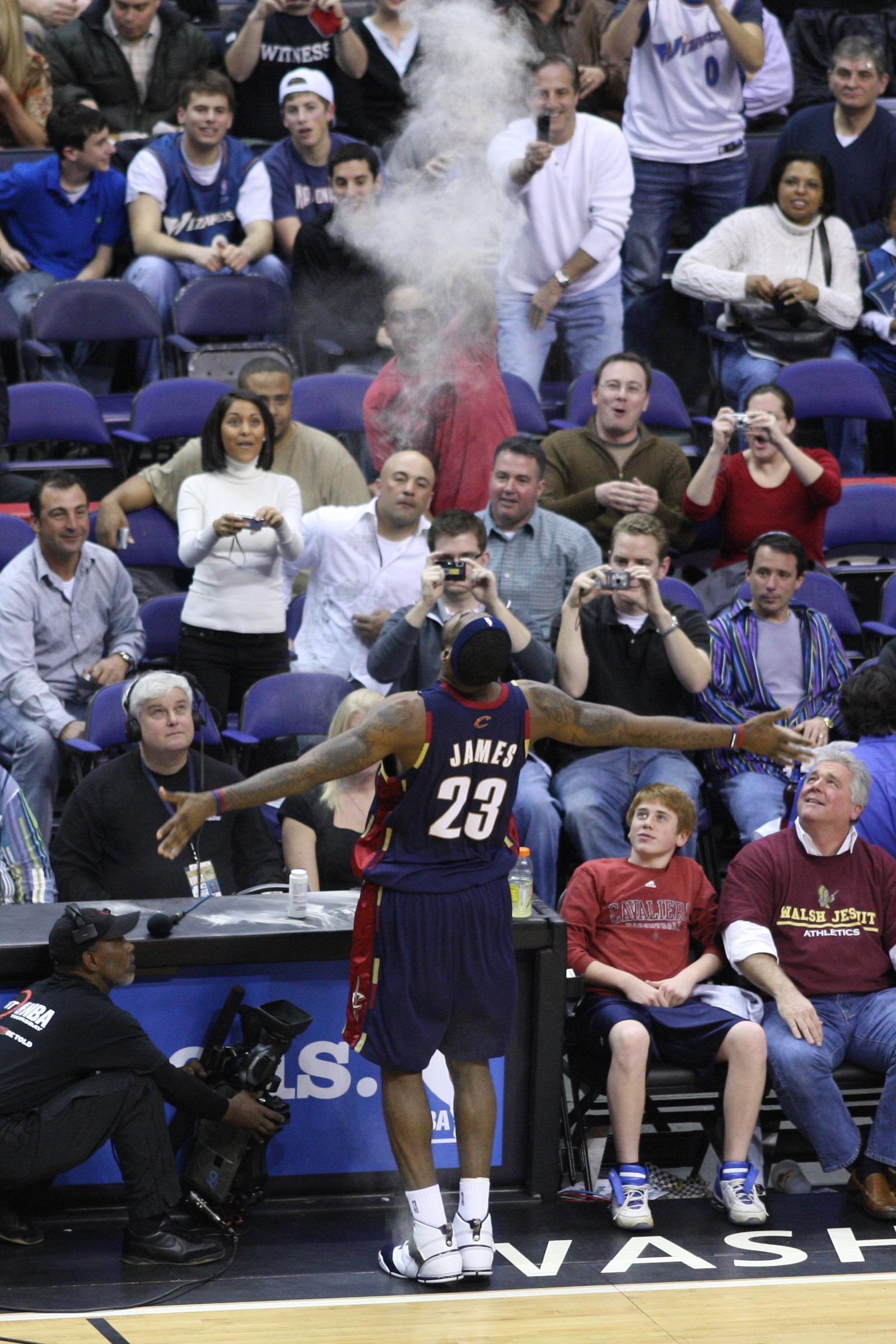 File:LeBron James' pregame ritual.jpg - Wikimedia Commons