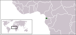 Location of Equatorial Guinea