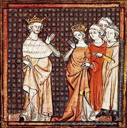 A fourteenth-century depiction of King Louis II of France