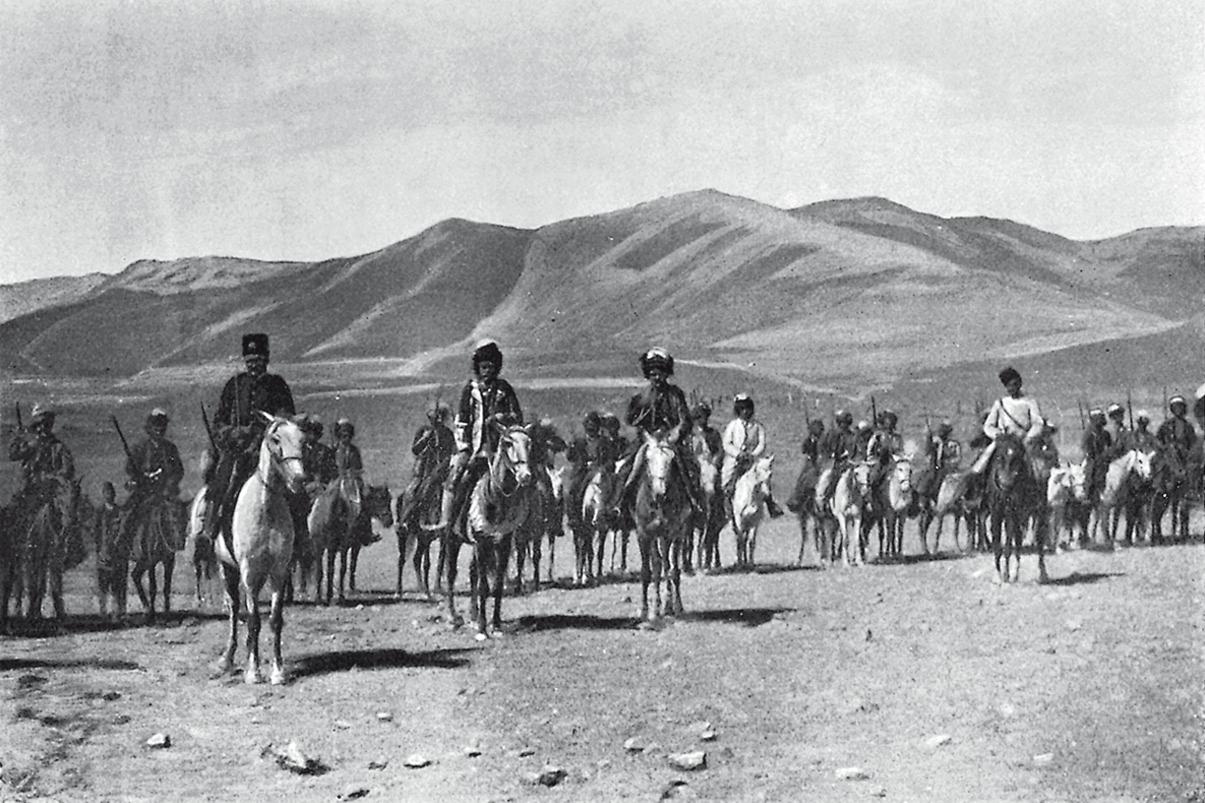 Lynch Armenia Hamidiye cavalry at village of Gumgum.png