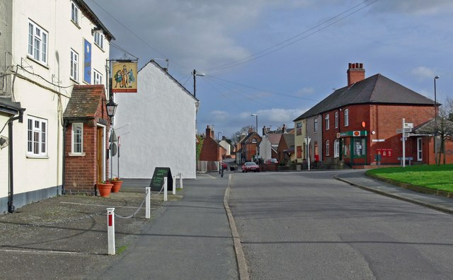 Main Street of Higham on the Hill - geograph.org.uk - 672033