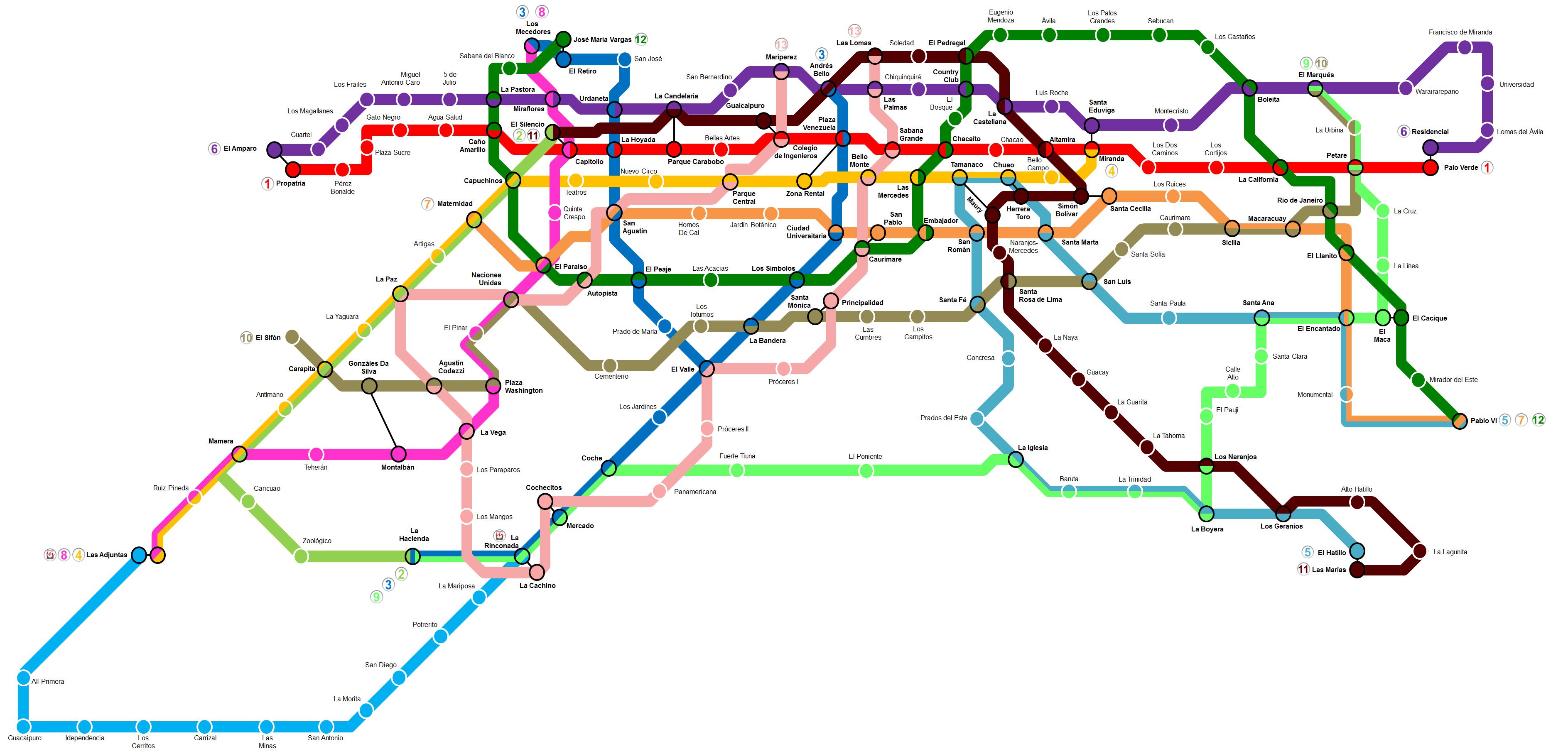 File:Mapa del Metro de Caracas.png - Wikimedia Commons