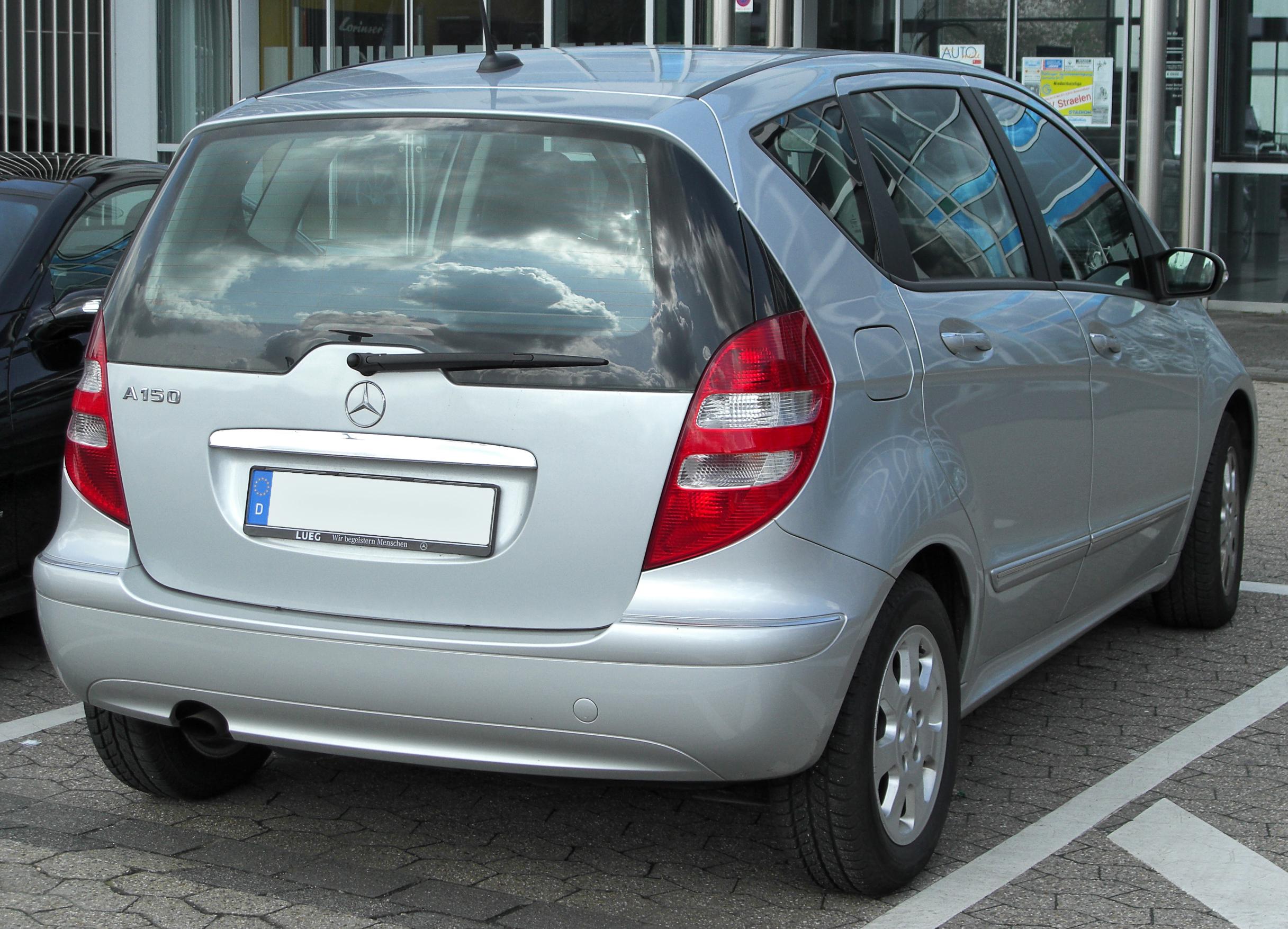 file mercedes a 150 elegance w169 rear 20100405 jpg wikimedia rh commons wikimedia org Mercedes- Benz 200 Mercedes A Klasse
