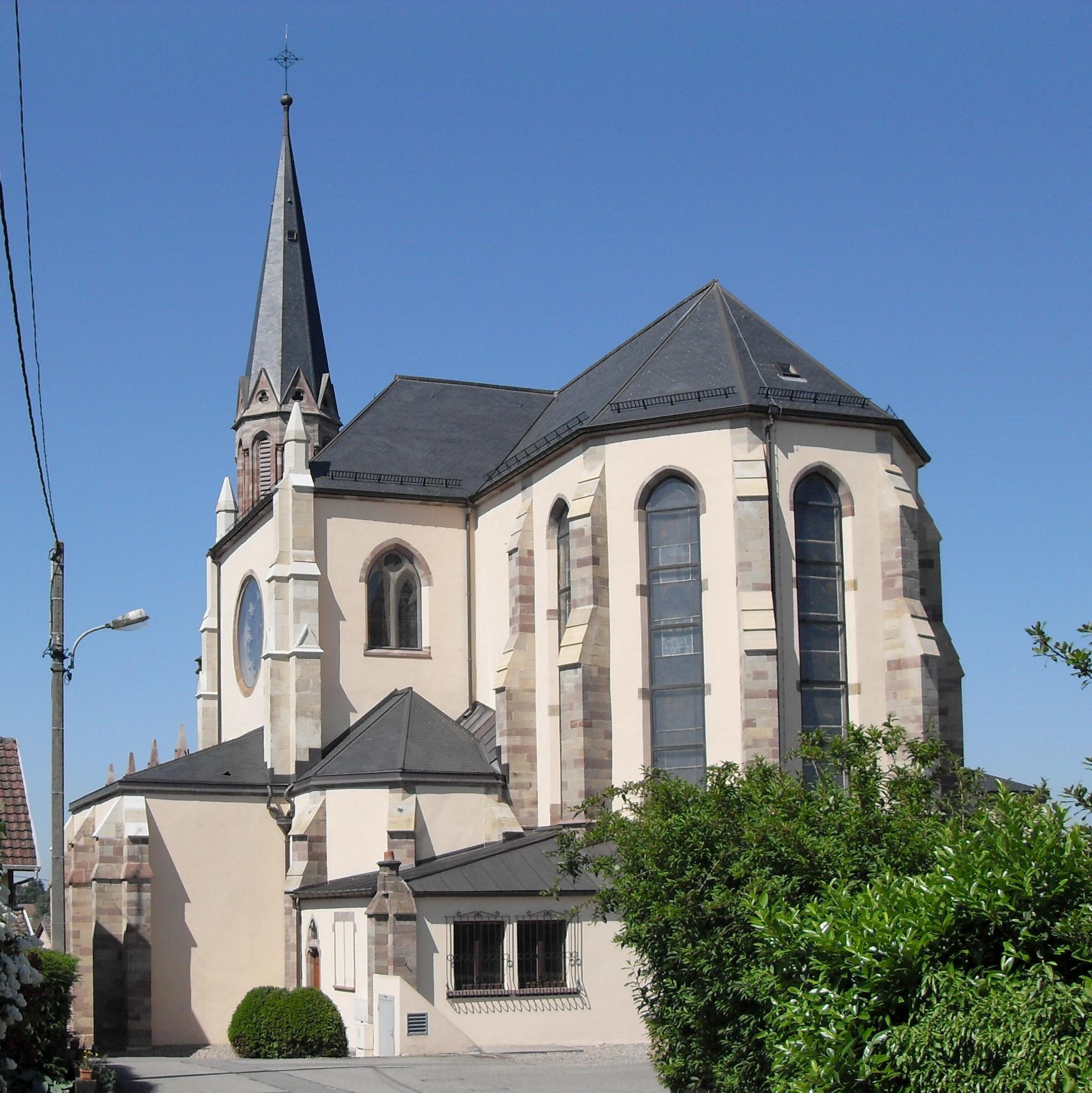 Morschwiller-le-Bas France  City new picture : Morschwiller le Bas, Eglise Saint Ulrich 2 Wikimedia ...