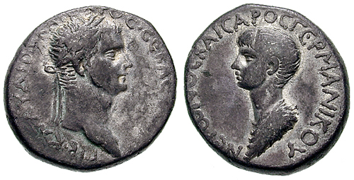Coin issued under Claudius celebrating young Nero as the future emperor.