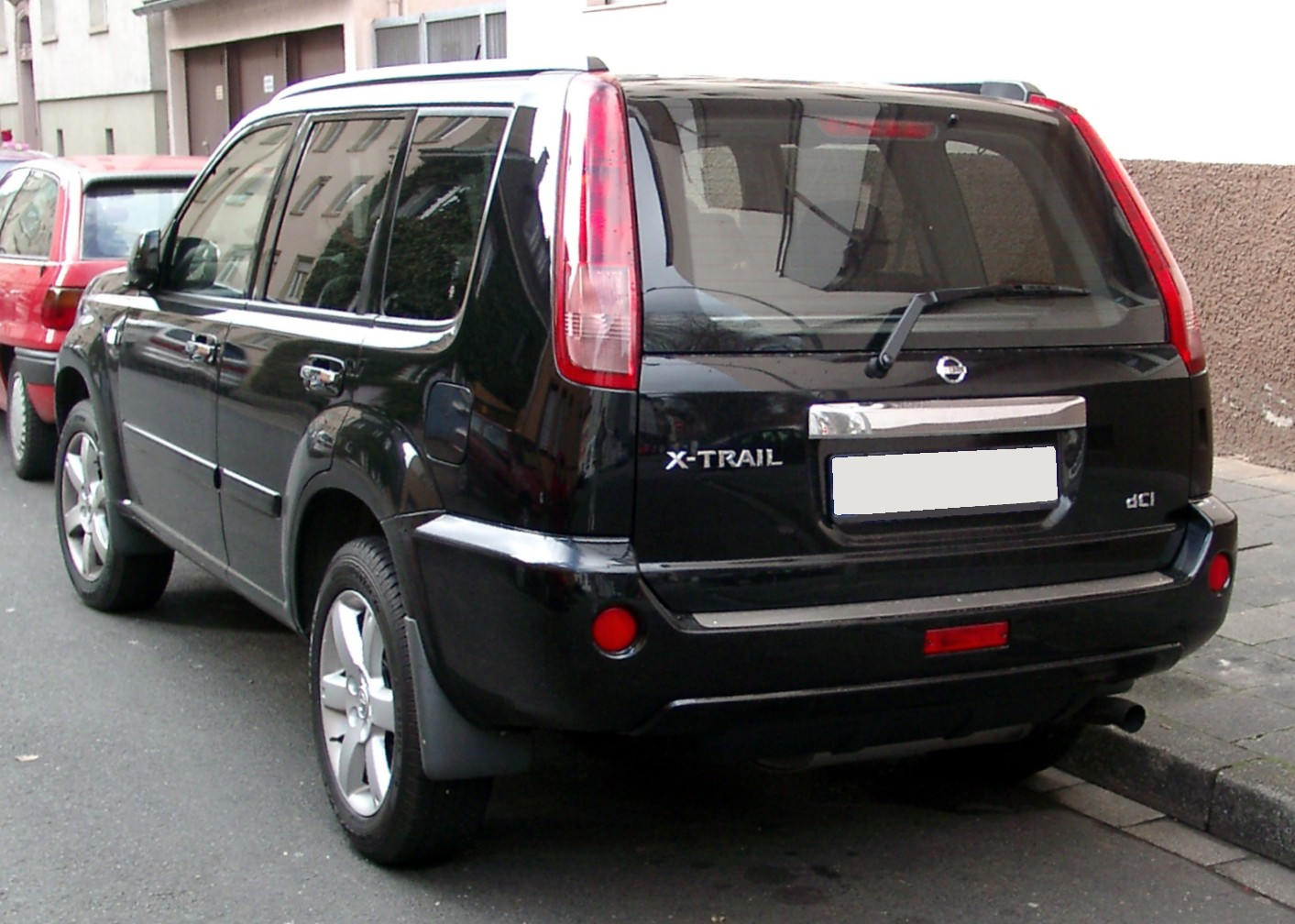 file nissan x trail rear wikimedia commons. Black Bedroom Furniture Sets. Home Design Ideas