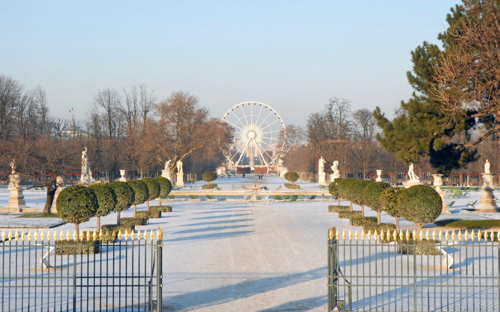 fileparis grande alle du jardin des tuileries sous la neigejpg - Allee De Jardin