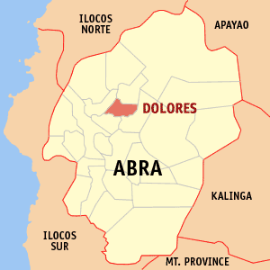 Mapa na Abra ya nanengneng so location na Dolores