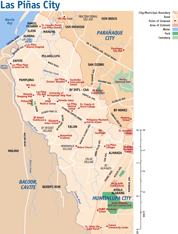 Map of Las Piñas City