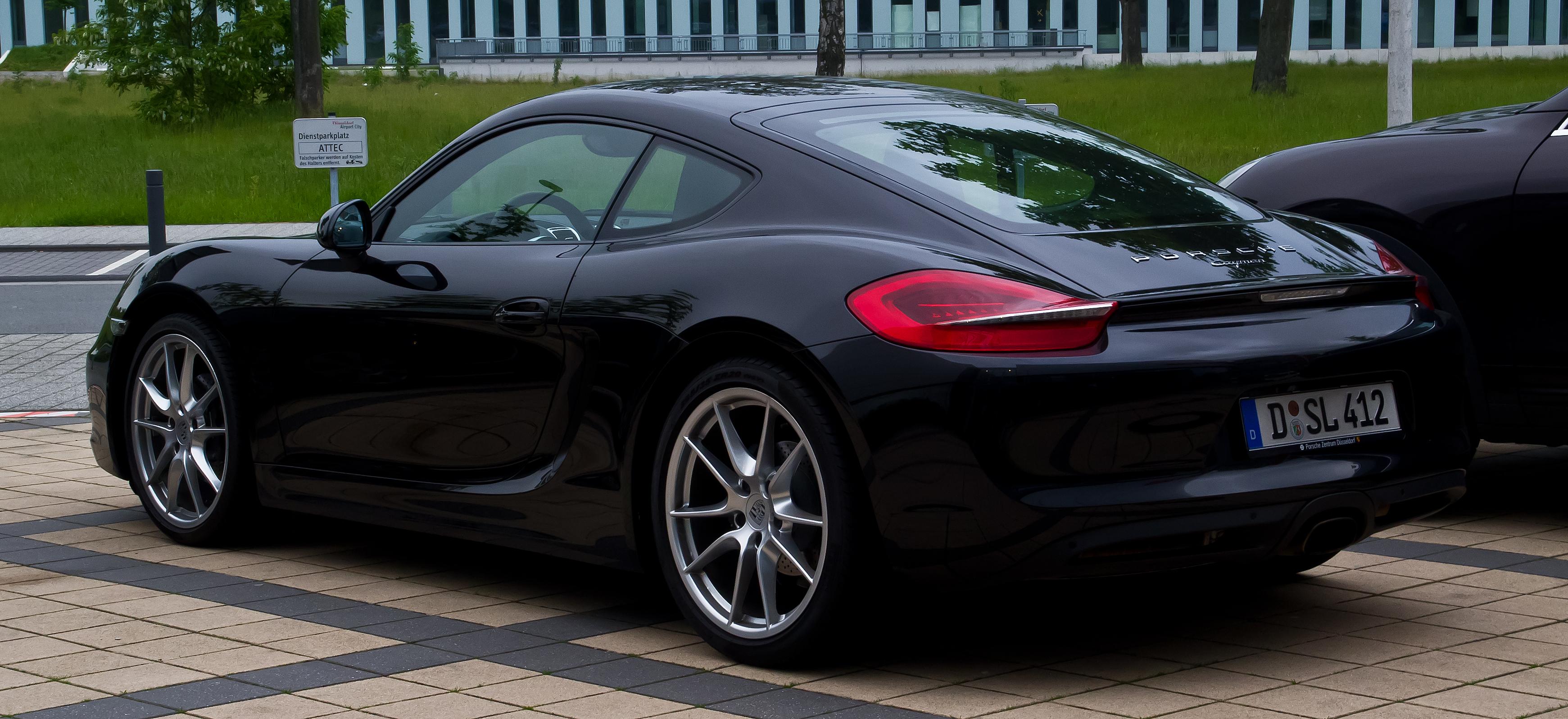 File Porsche Cayman Ii Heckansicht 1 Juni 2013