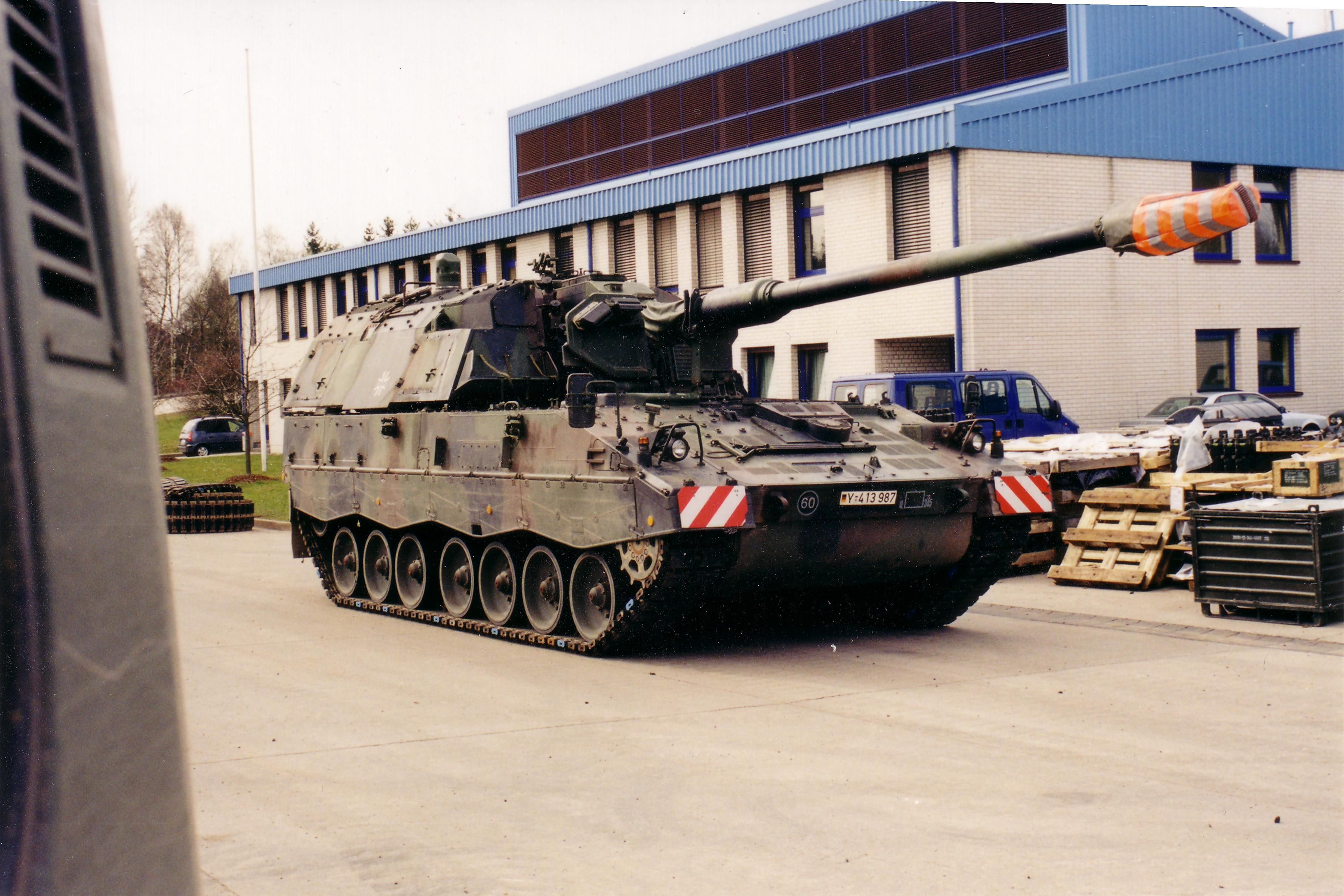 Self-propelled howitzer PzH 2000 of the German Army